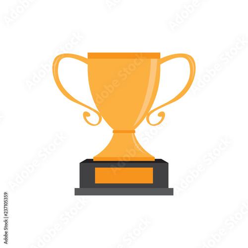 Fototapety, obrazy: Isolated golden trophy image. Vector illustration design
