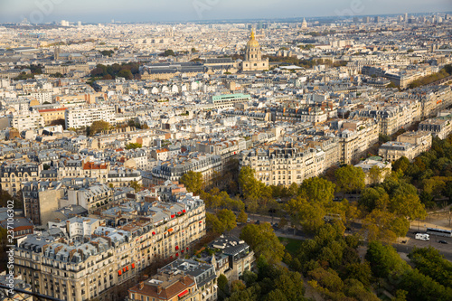 Photo Panorama of Paris with Hotel des Invalides