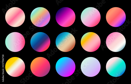 Fototapeta Modern  gradient collection Design for Web, background, Luxury Product and packaging ,ribbon, label design Vector  obraz