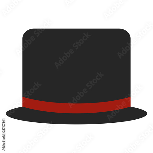 ee4aef1e7d4 Top Hat - Black top hat with red ribbon band - Buy this stock vector ...