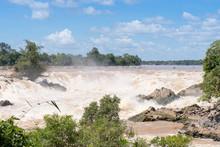 Khone Phapheng Water Fall At Southern Laos