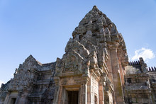 View Of Hindu Castle Rock Old Artichecture In Phanom Rung Historical Park.