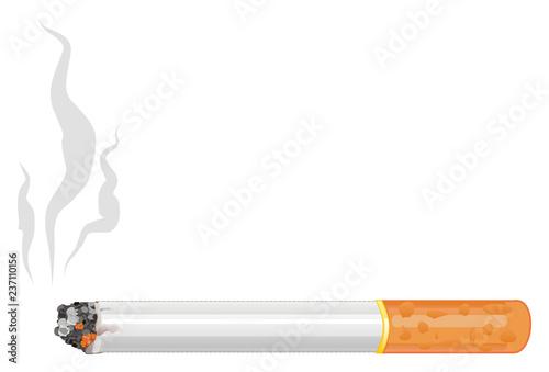 Fotografiet cigarette, smoking, smoke, habit, harmful, health,  tobacco,