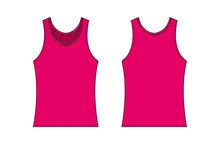 Women's Tank Top Template Illu...