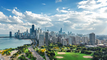 Chicago Skyline Aerial Drone V...