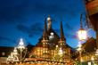 canvas print picture - Abends auf dem Weihnachtsmarkt im Harz Wernigerode