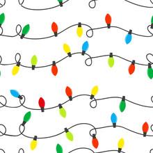 Christmas Lights Seamless Colo...