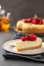 Slice Of New York Cheesecake W...