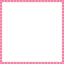 Vector Pink And White Square Frame Made Of Animal Paw Prints Copy Space