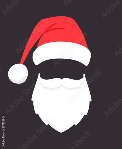 94872896454c1 Santa claus mask. Christmas santaclaus party fashion photo face with ...
