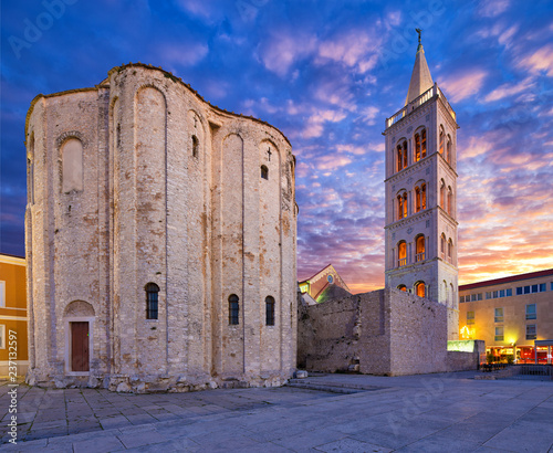 Cuadros en Lienzo St.Donatus church on the Roma Forum in Zadar. Croatia.