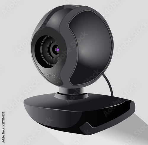 Photo Realistic black webcam