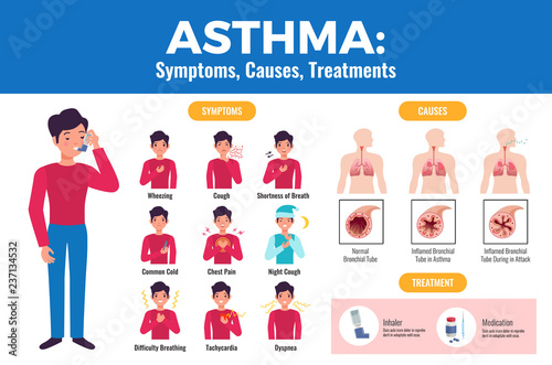 Photo Asthma Infographic Poster