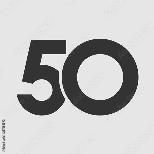 Tela 50 th years old logotype
