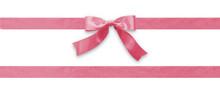 Pink Bow Ribbon Band Satin Str...