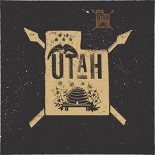 Retro Utah Poster With Local S...