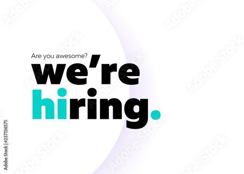 Fotografía  We are Hiring Vector Background