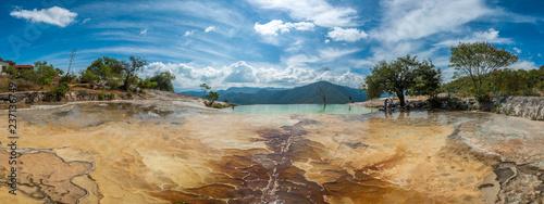 Deurstickers Centraal-Amerika Landen Hierve el Agua, natural rock formations in the Mexican state of Oaxaca