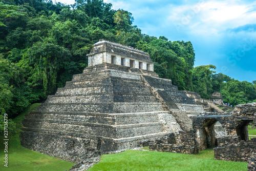Deurstickers Centraal-Amerika Landen Ruins of Palenque, Chiapas, Mexico