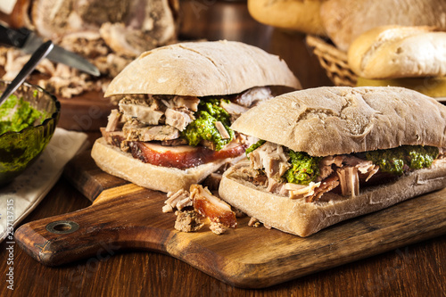 Recess Fitting Snack Italian porchetta sandwich