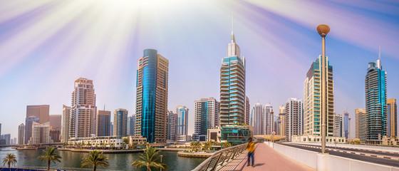 General view of Dubai Marin...