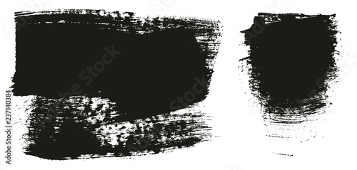 Fotomural  Paint Brush Wide Background High Detail Abstract Vector Background Set 130