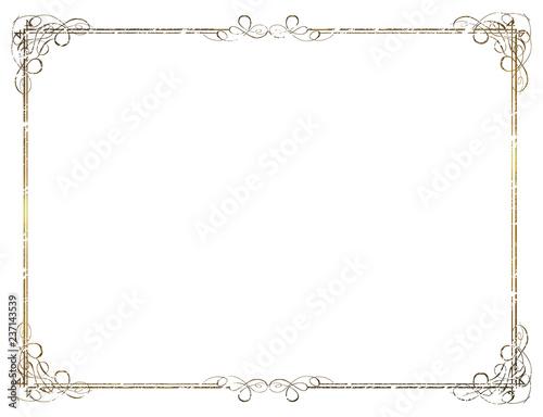 Fotografía  金属の質感のバロック調のオーナメント・飾り罫・飾り囲み(チョーク調|Baroque ornament
