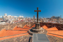 Cross On The Roof Of Barcelona...