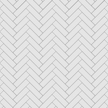 Rectangular Herringbone Grey T...