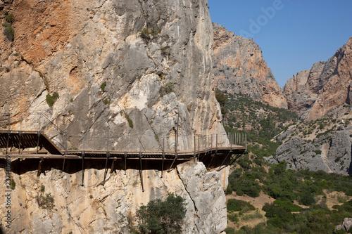 Photo  Hiking trail 'El Caminito del Rey' - King's Little Path, former world's most dan