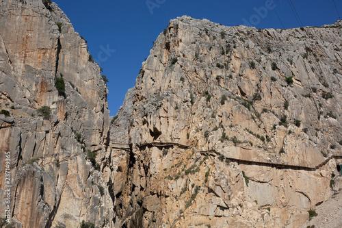 Royal Trail (El Caminito del Rey) in gorge Chorro, Malaga province, Spain Canvas Print