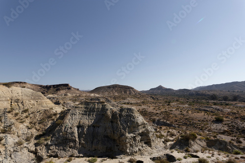Fotomural View of the Desert Tabernas in Almeria Province Spain