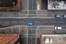 Aerial View Of A Crossroad Jun...