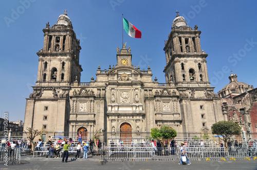 Fotografía  Metropolitan Cathedral of the Assumption of Mary, the largest church in Latin America, Zocalo, Plaza de la Constitucion, Mexico City, Mexico
