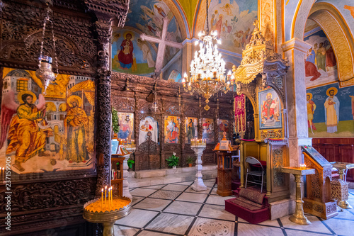Photo Interior of the Greek Orthodox Church of the Annunciation in Nazareth, Israel