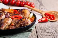 Roasted Chile Miso  Chicken Drumsticks