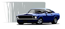 Muscle Car. Vector Illustration.