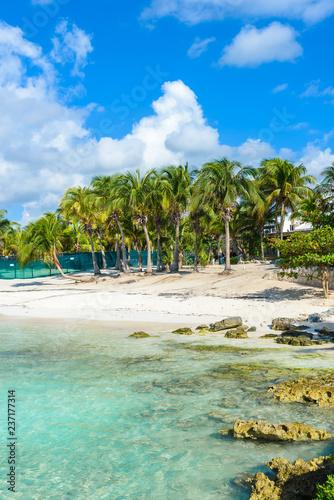 Deurstickers Centraal-Amerika Landen Riviera Maya - paradise beach Akumal at Cancun, Quintana Roo, Mexico - Caribbean coast - tropical destination for vacation