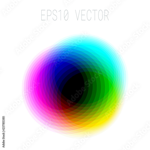 Photo  Abstract Asymmetric Colorful Blurred Design Element Isolated on White Background