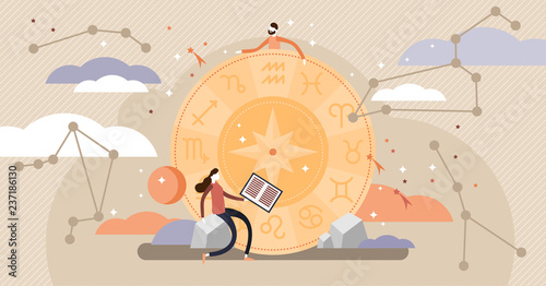 Leinwand Poster Astrology vector illustration