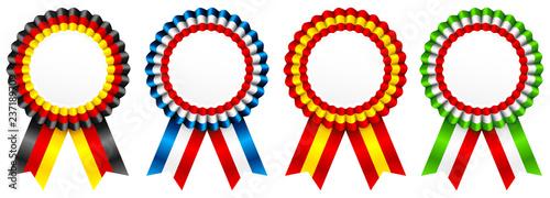 Fotomural 4 Award Badges Germany/France/Spain/Italy