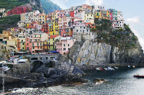 Colorful Cinque Terre Italy houses
