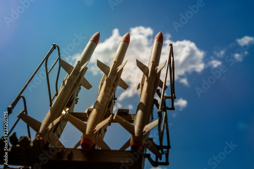 Photo  weapons, missiles pointing up