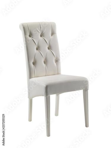 Sedia in pelle bianca - Buy this stock photo and explore similar ...