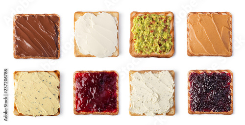 Fototapeta toast bread with cream cheese