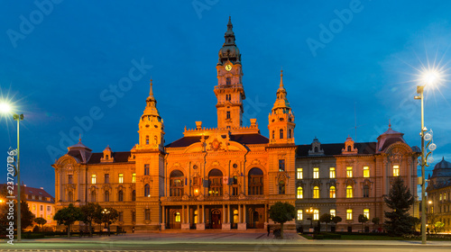 Gyor City Hall at night