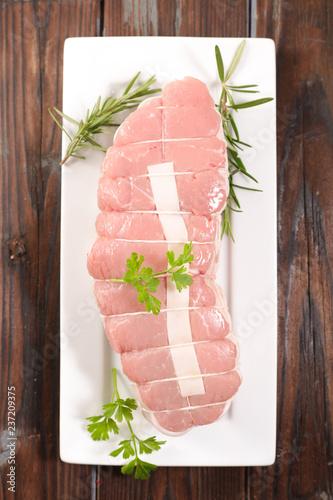 Stampa su Tela raw roast veal