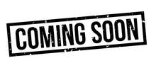 Coming Soon Square Grunge Black Stamp Badge