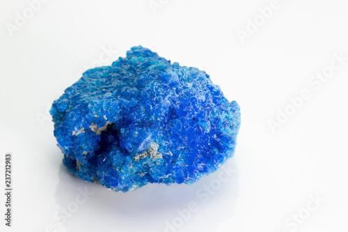 Covellite (covelline): rare blue copper sulfide mineral with
