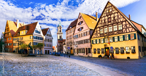 Best of Bavaria (Germany) - old town Dinkelsbuhl with traditional colorful houses